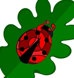 abstract large ladybug vector image vector image