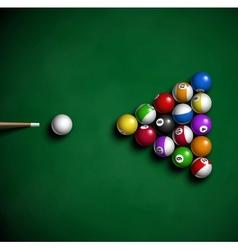 Billiard balls vector image vector image