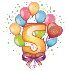Happy Birthday five vector image