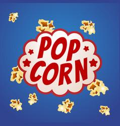 pop corn sign logo vintage poster vector image vector image