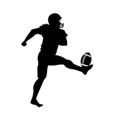 american football player uniform helmet ball vector image vector image