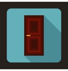 Brown door icon in flat style vector image