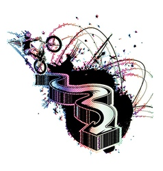 colorful 3d arrow vector image