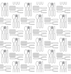 Cooking seamless pattern Kitchen utensils vector image vector image