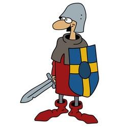 Funny gothic warrior vector