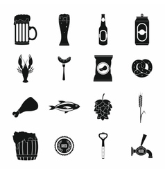 Beer icons set simple style vector image vector image