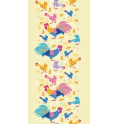 Fun chickens vertical seamless pattern background vector image vector image