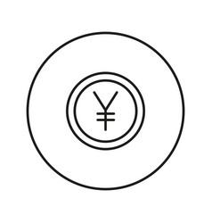 money sign coin yen vector image