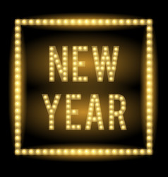 new year lamp light title vector image vector image