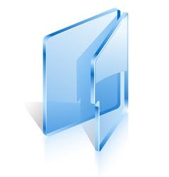open folder vector image vector image