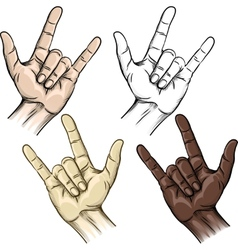 Unity and horns gesture vector image