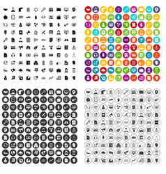 100 business operation icons set variant vector