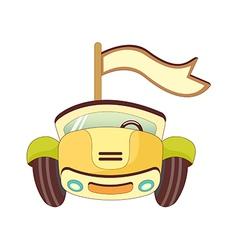 A running car vector