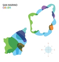 Abstract color map of San Marino vector