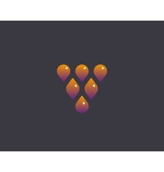 Abstract drop leaf logo symbol icon Wine vector image