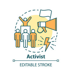Activist concept icon campaigning for political vector