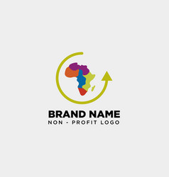 Africa care non profit logo template icon element vector