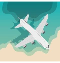 airplane travel fly icon vector image
