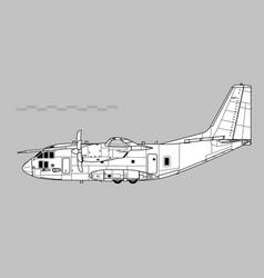 alenia c-27 spartan vector image
