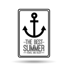 anchor card best summer travel and enjoy vector image