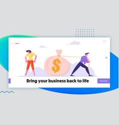 Bankruptcy unemployment crisis website landing vector