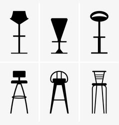 bar chairs vector image