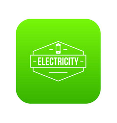 battery icon green vector image