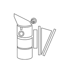 Bee hive smoker icon outline style vector