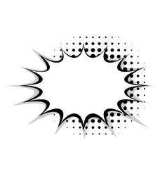 Blank template comic speech star bubble vector