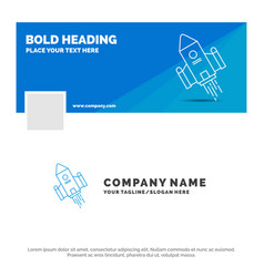 Blue business logo template for space craft vector
