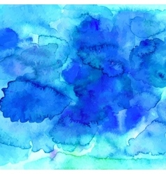 Blue watercolor texture in vector