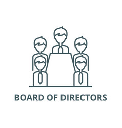 board directors line icon board of vector image
