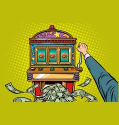 Burger prize slot machine vector