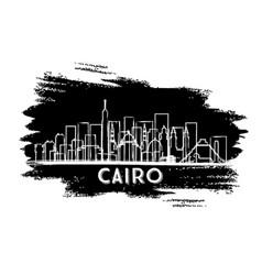 cairo egypt city skyline silhouette hand drawn vector image