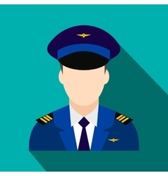 Captain of the aircraft flat icon vector image