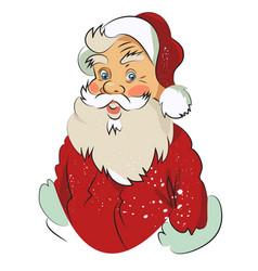 Cartoon image of amazed santa claus vector