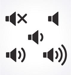 classic simple audio speaker icon set vector image