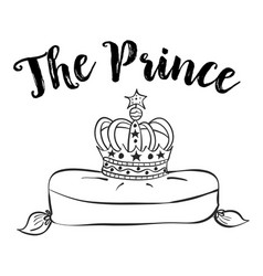 Collection prince crown of doodles vector