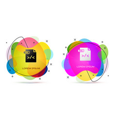 Color xsl file document download xsl button icon vector