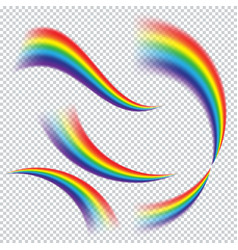 colorful realistic multicolored rainbow vector image