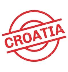 Croatia rubber stamp vector
