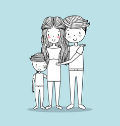 cute family hand drawn image vector image