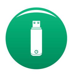 Digital flash drive icon green vector