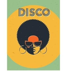 Disco party event flyer Creative vintage poster vector image
