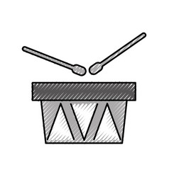 Drums musical instrument icon vector