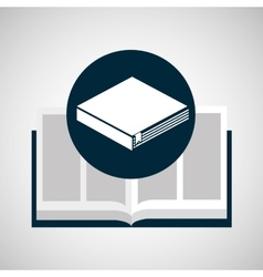 education opened book learning vector image
