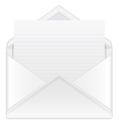 Envelope mail and sheet vector