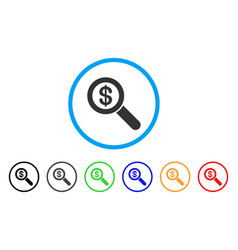 financial audit loupe rounded icon vector image