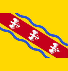 Flag of meurthe-et-moselle in grand est is a vector