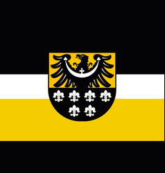 flag of trzebnica county in lower silesian vector image